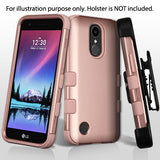 For LG K20 Plus/ K10/V5 Rose Gold/Rose Gold TUFF Hybrid Phone Protector Cover
