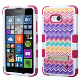 For Lumia 640 Camo Wave/Hot Pink TUFF Hybrid Case Cover (+Stand)