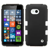 For Lumia 640 Rubberized Black/Solid White TUFF Hybrid Case Cover