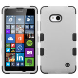 For Lumia 640 T-Mobile/MetroPCS Rubberized Gray/Black TUFF Hybrid Case Cover
