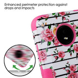 For Motorola Moto E4 Pink Fresh Roses/Electric Pink TUFF Hybrid Protector Cover