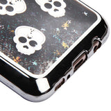 For Samsung Galaxy S8 Plus Cute Skulls/Black Quicksand Glitter Protector Cover
