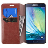 For A700 Galaxy A7 Brown MyJacket Wallet +Tray Protector Cover Case