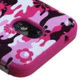 Hot Pink Flower Camo Impact Case Silicone Cover - Samsung Epic Touch 4G