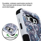 For Samsung Galaxy ES S978L Purple Flowers/Black TUFF Hybrid Protector Cover
