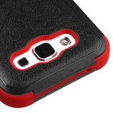 For Samsung Galaxy ES S978L Natural Black/Red TUFF Hybrid Phone Protector Cover
