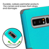 For Samsung Galaxy Note 8 Teal Green/Iron Gray TUFF Hybrid Phone Protector Cover