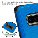 For Samsung Galaxy Note 8 Dark Blue/Black TUFF Protector Cover w/Magnetic Stand