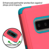 For Samsung Galaxy Note 8 Baby Red/Tropical Teal TUFF Cover w/Magnetic Stand