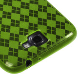 For Galaxy Note II T889/I605/N7100 Dr Green Argyle Candy Skin Cover