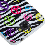 For Galaxy Note II T889/I605/N7100 Peace and Zebras Candy Skin Cover