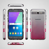 For Samsung Galaxy J3/Emerge/Sol2 Metallic Silver/Pink Gradient TUFF Hybrid Case