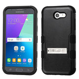 For Samsung Galaxy Express Prime 2/J3 Black TUFF Hybrid Phone Protector Cover