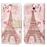 For Samsung Galaxy Express Prime 2/J3 Eiffel Tower Diamante MyJacket Wallet Case