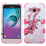 For Samsung S320/J320/Prime/Amp/J3 Flowers/Electric Pink TUFF Phone Protector