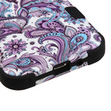 For Samsung S320/J320/Prime/Amp/J3 Purple Flowers/Black TUFF Hybrid Phone Cover