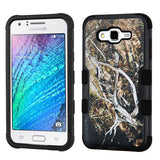 For Samsung Galaxy J7 Yellow/Black Vine/Black TUFF Hybrid Protector Cover