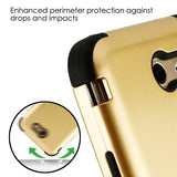 For Samsung Galaxy Halo, J7 Prime Gold/Black TUFF Hybrid Protector Case Cover