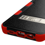 For Galaxy S6 edge Plus Natural Black/Red TUFF Hybrid Case Cover (with Stand)