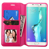 For Galaxy S6 edge Plus Hot Pink MyJacket Wallet (with Tray)
