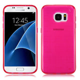 For Samsung Galaxy S7 Glassy Transparent Hot Pink SPOTS Candy Skin Cover Case