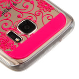 For Samsung Galaxy S7 Hot Pink four-leaf Clover Candy Skin Armor Cover Case