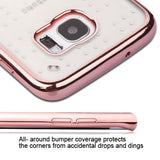 For Samsung Galaxy S7 Edge Rose Gold Glassy SPOTS Electroplated Candy Skin Cover