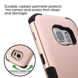 For Samsung Galaxy S7 Edge Rose Gold/Black TUFF Hybrid Phone Protector Cover
