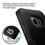 For Samsung Galaxy S7 Edge Natural Black/Black TUFF Hybrid Phone Protector Cover