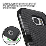 For Samsung Galaxy S7 Carbon Fiber/Black TUFF Hybrid Phone Protector Cover