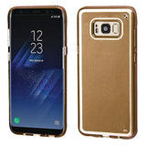For Samsung Galaxy S8 Gold Premium Silicone Rubber Candy Skin Phone Case Cover