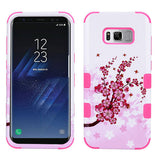 For Samsung Galaxy S8 Spring Flowers/Electric Pink TUFF Hybrid Protector Cover