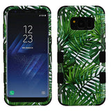 For Samsung Galaxy S8 Tropical Palms/Black TUFF Hybrid Phone Protector Cover