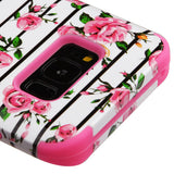 For Samsung Galaxy S8 Pink Roses/Electric Pink TUFF Hybrid Phone Protector Cover