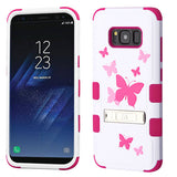 For Samsung Galaxy S8 Butterfly Dancing/Hot Pink TUFF Protector Cover w/Stand