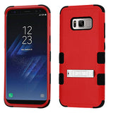 For Samsung Galaxy S8 Natural Red/Black TUFF Hybrid Phone Protector Case w/Stand