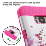 For Samsung Galaxy S8 Spring Flowers/Electric Pink TUFF Trooper Hybrid Cover