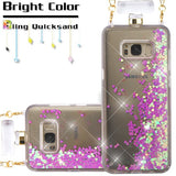 For Samsung Galaxy S8 Plus Light Purple Quicksand Glitter Perfume Bottle Cover