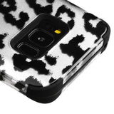 For Samsung Galaxy S8 Plus Black Leopard/Black TUFF Hybrid Phone Protector Cover