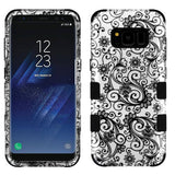 For Samsung Galaxy S8 Plus Black Four-Leaf Clover/Black TUFF Hybrid Phone Cover