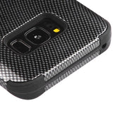 For Samsung Galaxy S8 Plus Carbon Fiber/Black TUFF Hybrid Phone Protector Cover