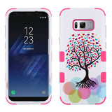 For Samsung Galaxy S8 Plus Love Tree/Electric Pink TUFF Hybrid Protector Cover