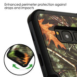 For Samsung Galaxy S8 Plus Oak Leaves Camouflage/Black TUFF Hybrid Cover w/Stand
