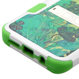 For Samsung Galaxy S8 Plus Oil-Painting Tender Leaves/Electric Green Stand Case