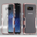 For Samsung Galaxy S8 Plus Metallic Rose Gold/Clear TUFF Panoview Hybrid Cover