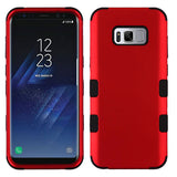 For Samsung Galaxy S8 Plus Titanium Red/Black TUFF Hybrid Phone Protector Cover