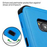 For Samsung Galaxy S8 Plus Natural Dark Blue/Black Hybrid Phone Protector Cover