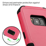 For Samsung Galaxy S8 Plus Natural Pink/Black  TUFF Phone Stand Protector Cover
