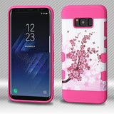 For Samsung Galaxy S8 Plus Spring Flowers/Electric Pink TUFF Trooper Hybrid Case