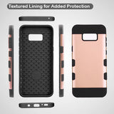 For Samsung Galaxy S8 Plus Rose Gold/Black TUFF Trooper Hybrid Protector Cover